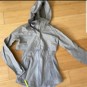 Lululemon gray running rain jacket vest size 4